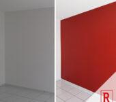 Wand rot malen
