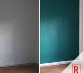 Wand blaugrün